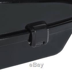 Chopped Pack Trunk With Black Latch Backrest Pad For Harley Tour Pak Touring 14-19