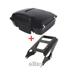 Chopped Tour Pak Pack Trunk Backrest +Rack For Harley Touring Street Glide 09-13