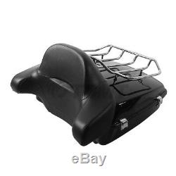 Chopped Tour Pak Pack Trunk Backrest Two Up Rack For Harley Touring 2014-2018 16