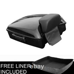 Chopped Tour Pak Pack Trunk Black Latch Backrest Pad For Harley Touring 2014-Up