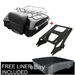 Chopped Tour Pak Pack Trunk Razor Backrest With Rack For Harley Touring 2014-2019