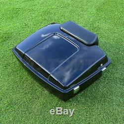Chopped Tour Pak Pack Trunk with Backrest For Harley Davidson Touring 1997-2013