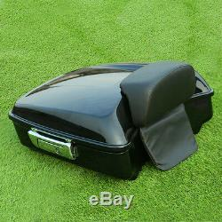 Chopped Tour Pak Trunk with Backrest For Harley Touring Street Glide FLHX 14-19