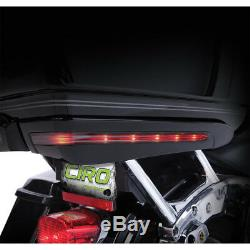 Ciro Gloss Black Tour-Pak Trunk Light Accents for Harley Touring 14-19 (exc CVO)