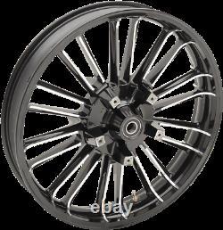 Coastal Moto Black 21 Atlantic Dual Disc Front Wheel for 08-19 Harley Touring