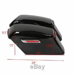 Complete Hard Saddlebags For Harley Touring Road King Electra Glide 14-19 Black