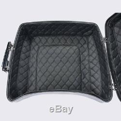 Custom Black Stitching liner Fit Advanblack Harley Razor Tour Pack Pak Luggage