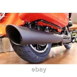 D&D 633Z-31T Black M8 Billet Cat 21 2 Into 1 Exhaust for Harley Touring 17-19 F