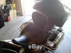 Detachable Driver Comfort Stitch Rider Backrest Harley Touring Models 1988-2020