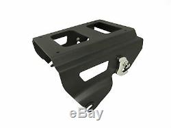 Detachable Solo Style Tour Pack Rack For'09-up Harley Davidson Touring Black