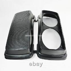 Double 6x9 Speaker Lids 4 Harley HD 93-13 Touring Saddlebag Replace Stock Lids