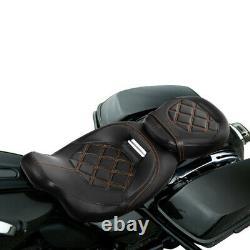 Driver Passenger Pillion Seat For Harley Touring CVO Road Street Glide 2009-2020