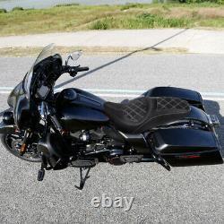 Driver & Passenger Seat Fit For Harley Touring Street Glide CVO Custom 2009-2021