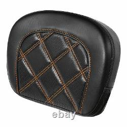 Driver Passenger Seat with pad Orange stitching Fit For Harley Touring 2009-2020