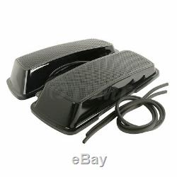 Dual 6x9 Speakers Saddlebag Lids For Harley Touring Road King Glide 1994-2013