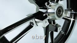 Enforcer Style ReInforcer Black Contrast Cut Front 21 Wheel Rim Harley Touring