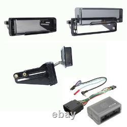 FOR 98-13 HARLEY TOURING RADIO INSTALL ADAPTER With THUMB CONTROL INTERFACE STEREO