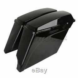 FOR Harley Electra Road Touring 1993-2013 5 Stretched Extended Hard Saddle Bag