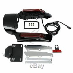 FOR Harley Touring Electra Glide 2014-2018 Rear Fender Fascia with LED Light Kit
