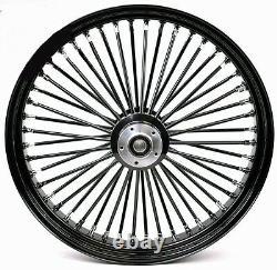 Fat Spoke 23 Big Wheel Front Black 23 Harley Electra Glide Road King Street