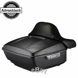 For 97 -18 Harley Street Road Glid Denim Black King Tour Pack Pak Trunk Luggage