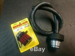 GLOSS BLACK M3 Harley Davidson m8 Street Oil Dipstick Ventilator a1 tour flh hd