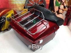 Genuine 95-20 Harley Touring Ultra Tour Pack Pak Backrest Rack OEM Red Black