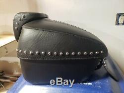 Genuine Harley Davidson Heritage Classic Touring Leather Tour Pak Pack Luggage