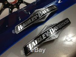 Genuine Harley Touring Skull Willie G Fuel Gas Tank Set Emblems Badges