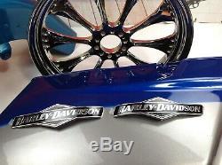 Genuine Harley Touring Skull Willie G Fuel Gas Tank Set Emblems Badges