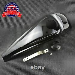 Gloss Black Dash Fuel Console Cover + Gas Tank Cap Fit For Harley Touring 08-20