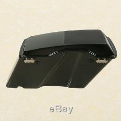 Glossy Hard Saddle Bags Speaker Lid Latch Key For Harley Touring Models FL 94-13
