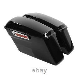 Hard Saddle Bags Trunk With Latch key Fit For Harley Touring Road King Glide 93-13