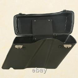 Hard Saddle bags Trunk withLid Latch & Key For Harley Touring Road King FLHR 94-13