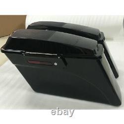 Hard Saddlebag Trunk With Speaker Lid Latch Key For Harley Touring Road King 94-13