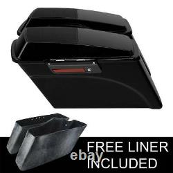 Hard Saddlebags with 6x9 Speaker Lids+Black Latch Fit For Harley Touring 94-13 12