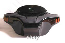 Harley Batwing Fairing Windshield 6x9 Touring Road King Unpainted Abs Double Din