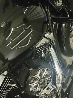 Harley CVO custom metal tank emblems Black Contrast Cut (set of 2) for touring