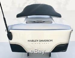 Harley Davidson 100 Anniversary Vivid Black Silver Tour Pack Pak Touring Trunk