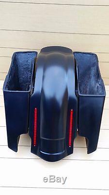 Harley Davidson 5stretch Saddlebags And Led Rear Fender For Touring 96/2013