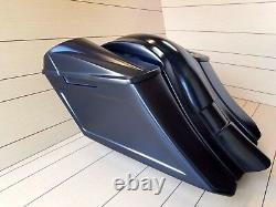 Harley Davidson 6down 9back Extended Bags/fender With 8x8 Lids Touring 94-2008