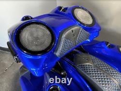 Harley Davidson Bagger 8 With Tweeter Fiberglass Complete chopped Tour Pack