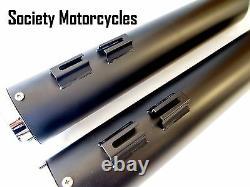 Harley Davidson Revolver Slip-On Mufflers Exhaust Pipes Black HD Touring Dresser