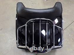 Harley-Davidson Vivid Black Detachable Tour Pack with Rack 2009-2013 Mount w Key