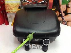 Harley Road King Classic Touring Leather Tour Pak Pack Luggage