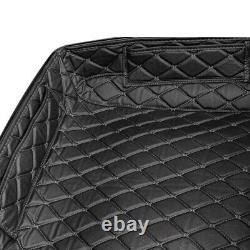 Hogworkz HW301017 Chopped Tour Pack Liner Black Stitch Harley with OEM Rushmore Pa