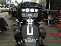 KST Kustoms Black Mirror Brackets Harley Touring Batwing Models 14-Up MB0216