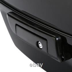King Pack Trunk Backrest Rack Black Fit For Harley Tour Pak Touring Models 14-20