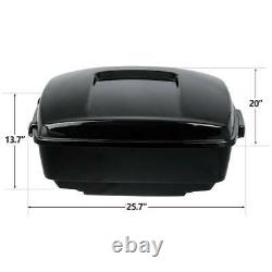 King Pack Trunk Black Latches Fit For Harley Tour Pak Touring Street Glide 14-21