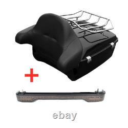 King Pack Trunk With Brake Turn Tail Light Fit For Harley Tour Pak Touring 2014-Up